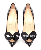 2013 new style madame mouse ears lb balck high heel shoes