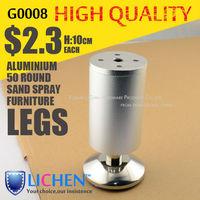 LICHEN(4 pieces/lot) height 10cm Aluminum alloys legs&Furniture legs&Cabinet Legs&Sand spray metal cabinet legs