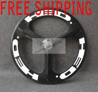 3 spokes carbon wheel  HED wheel tri-spoke carbon wheelset 700C-MVP BIKE-Tri-spoke Rear Carbon wheel Clincher  free shipping