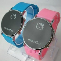 2012 New Fashion hello kitty LED leather watches, digital watch wedding gift Free Shipping10pcs/lot