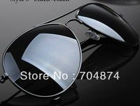 2013  metal large frame aviator mirror sunglasses for mens womens sunglass
