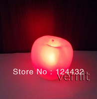 shine change color LED night light kids cute figure children toy lamp decoration apple