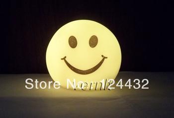 shine change color LED night light kids cute figure children toy lamp decoration smiling face