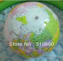 El envío libre inflable del globo del mundo Aula bola de piscina Geografía Educación didáctico Mapa(China (Mainland))