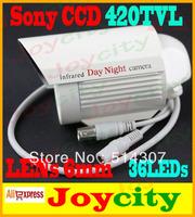 CCTV Camera Waterproof 36Leds IR Night Vision 1/3 Sony CCD 420TVL Surveillance Video Camera Out Or Indoor Free Shipping Joycity
