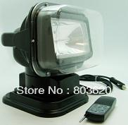 EMS Free ship! 12V 55W Remote Control HID Xenon work spotlight for Boat/Car/SUV/Camping/Hike, Rotating Wireless search lamp.