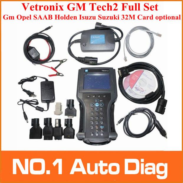 2014 DHL free GM TECH2 diagnostic tool (GM,OPEL,SAAB ISUZU,SUZUKI HOLDEN) Vetronix gm tech 2 scanner Without black plastic box(China (Mainland))