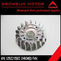 Chromed Fan for Chinese 125cc 150cc 125QMI 157QMJ Motor Scooters, ATV, Taotao, Roketa. Peace, Yiben, Nst