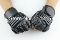 HOT Tactical Half Finger Airsoft Paintball Gear Gloves Cycling gloves PU Training gloves Average Size