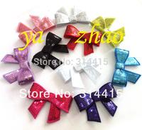"""3"""" smalll sequin  hair bows,  baby hair bows, 50pcs/lot, mixed 10color, 5pcs/color, free shipping"""