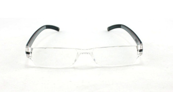 New Mens Womens Plastic Rimless Grey Reading Glasses All Strength Free Ship NO.BF-8