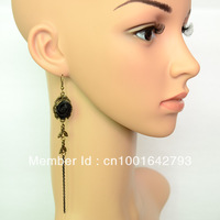 E319 Gothic pendientes Elegant gothic rose tassel long earrings accessories jewelry,  joyeria free shipping ! Stocklot !