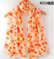 colorful dot scarf 2014 new style scarf  with print  coloured dot Free shipping fashion scarf hot sell  new arrived fashi style