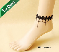 FL-11 chain anklet accessories for women pendant aliexpress Anklets Vintage Gothic vampire Lolita fashion Lace Anklets stock