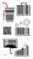 Free shipping temporary tattoo stickers barcode 10 personality