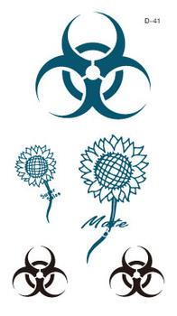 Temporary  Waterproof tattoo sticker sunflower logo