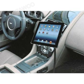 Free Shipping CSPtek(tm)Gooseneck Adjustable 360 Degree Rotatable Car Kit Mount Holder With Vehicle U Clamp for ipad 2 3 and 4