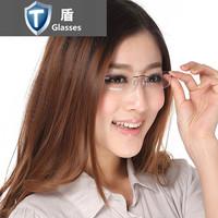 Rimless eyeglasses frame ultra-light Women frames myopia glasses frame lens