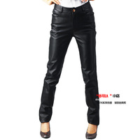 Free shipping 2014 brief fashion suede lederhosen leather women's genuine leather long leather trousers women's pencil pants