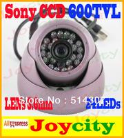 "CCTV Dome Camera 1/3"" SONY CCD 3.6mm Lens 600TVLs 24 IR LED Night Day Indoor Free Shipping Joycity"
