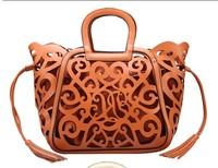 Free shipment fashion new 2013 vintage women's handbag national trend carved cutout tassel big bags