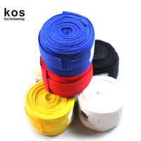 Broadened lengthen 100% cotton breathable fitness boxing bandage 3 meters armfuls
