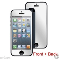 Brand New Front +  Back Premium Mirror Reflect Effect  Screen Protector for iPhone 5  Mirror Protective Film