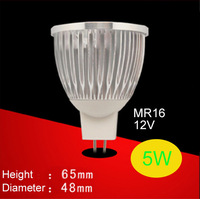 MR16 12V 5W 2700-3500K Warm White 400-450 Lumens 5LED Spotlight Bulb Free shipping