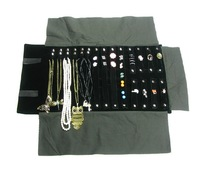 Free Shipping Multi-function Jewelry Roll Bags Jewellery Collection Bags Two Clolors Optional