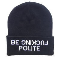 Free shipping New Be fucking polite Beanie For men and women winter hat ,baseball snapbacks, sports caps mix order