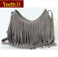 2030 Free shipping! Hot sale Suede Fringe Tassel Shoulder Bag women's fashion handbag