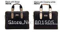 VIC&ZIV Genuine leather woven pattern business Men's shoulder briefcase handbag casual bag