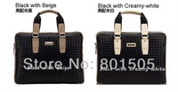 VIC&ZIV Genuine leather woven pattern business Men's shoulder briefcase handbag casual bag