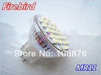 Free shipping! 4 x MR11 led spotlight with 24pcs 3528SMD, DC/AC12V white and warm white backlights