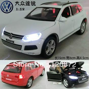 Alloy car model toy volkswagen touareg plain four door WARRIOR car
