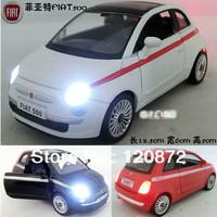 4 alloy car model toy 500 acoustooptical fiat WARRIOR double door