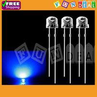 Wholesale 500pcs 3mm 5000mcd Super Bright Round Light Bulb Blue LED Light-emitting Diode Lamps for DIY Led Fish Tank Lighting