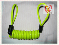 free shipping Bicycle lock disc lock bicycle lock safety lock  cable for 4*100cm green