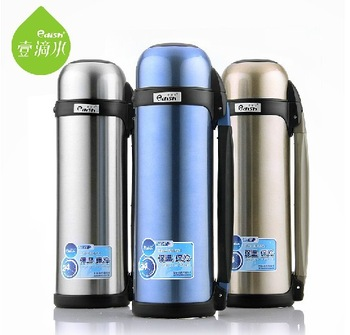 FREE SHIPPING! 1100ML fashion travel stainless steel  thermos big volum vacuum  flask hot and cold dual-purpose vacuum cup
