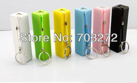 10set/lot, Free ship 2600mAh mobile power supply power bank Powerbank multi color support with Perfume taste+usb micro cable
