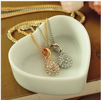 Free shipping (MIX order $10) Noble elegant water droplets studded drill short female clavicle necklace chain necklace