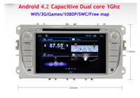 Capacitive Pure Android 4.1 Car DVD GPS Navi Car PC for Ford Focus II RDS Bluetooth TV WIFI 3G 1080P