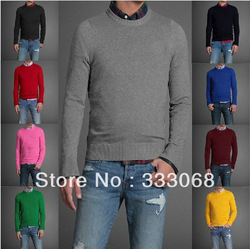 HOT Free shipping sweater men round neck Full pullovers man abercrombyin casual sweaters(China (Mainland))