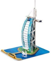 Burj Al Arab 3d DIY Puzzle Educational Toy 37 Piece 3d Jigsaw Puzzle