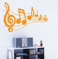 Various Colors Melody Music Note Decor Mural Art Wall Sticker Decal WY398