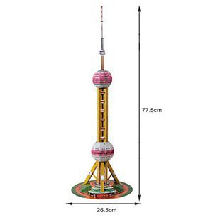 The Oriental Pearl Tower 3d DIY Puzzle Educational Toy 86 Piece 3d Jigsaw Puzzle