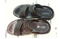 out stock 2013 new Summer fashion men slippers  leather sandals beach slippers wear well