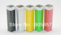 50pcs Free Shipping New 2600 mAh Lipstick Mini External Battery Charger For IPhone Potable Charger Trip Power Bank