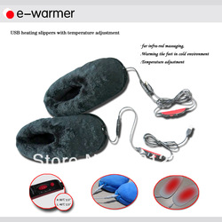 Wholesale 5PCS/LOT Brand E-warmer USB Heating Shoes USB Warm Shoes Electric Heat Slipper USB Gadgets F2501(China (Mainland))