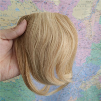 "Wholesale Virgin Brazilian 8"" Fashion Girls Clips on Front Neat Bang Fringe Hair Extensions 20g  Mixed Blonde #27/613"